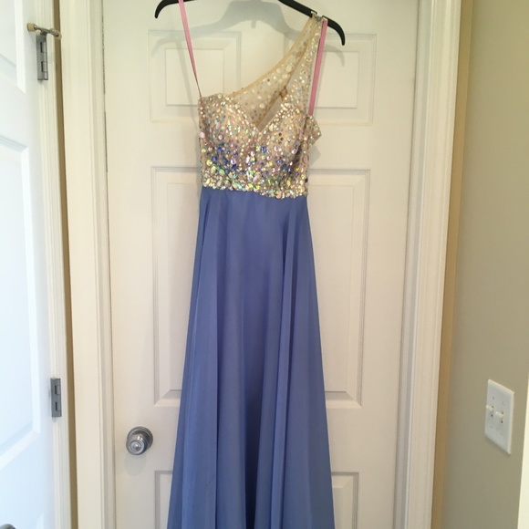 $190 NWT MASQUERADE Blue Evening Prom Formal Gown 9